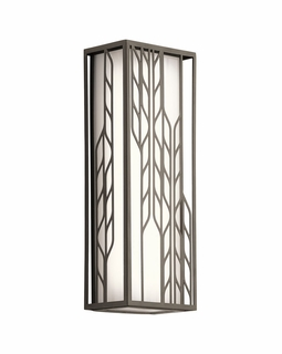 49605OZLED Kichler Contemporary Magnolia Outdoor Wall 2Lt LED (olde bronze)