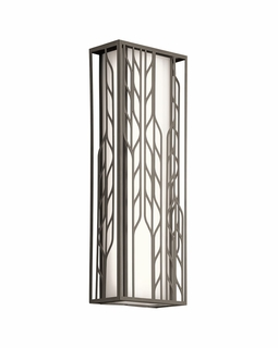 49606OZLED Kichler Contemporary Magnolia Outdoor Wall 2Lt LED (olde bronze)