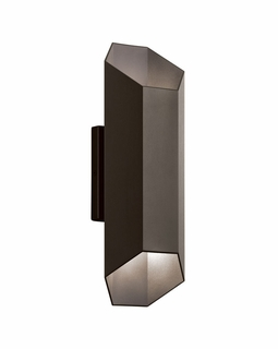 49607AZTLED Kichler Fixtures Contemporary Textured Architectural Bronze Outdoor Wall 1Lt LED