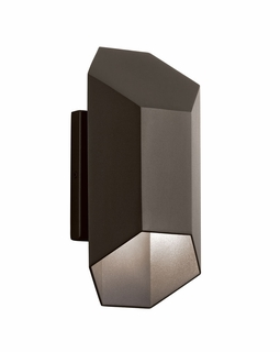 49608AZTLED Kichler Contemporary Estella Outdoor Wall 2Lt LED (textured architectural bronze)