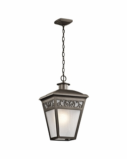 49616OZ Kichler Traditional Park Row Outdoor Ceiling 2Lt (olde bronze)