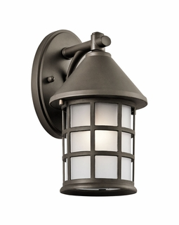 49618OZ Builder Arts and Crafts/Mission Town Light Outdoor Wall 1Lt (olde bronze)