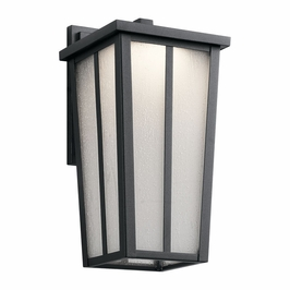 49622BKTLED Kichler Transitional Amber Valley Outdoor Wall 1Lt LED - Textured Black