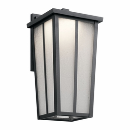49623BKTLED Kichler Transitional Amber Valley Outdoor Wall 1Lt LED - Textured Black