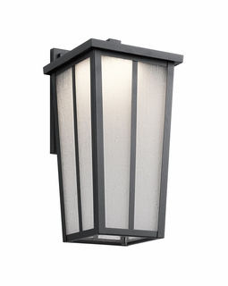 49623BKTLED Kichler Transitional Amber Valley Outdoor Wall 1Lt LED (textured black)