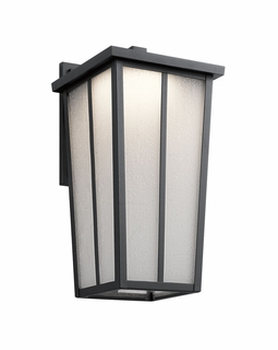 49624BKTLED Kichler Transitional Amber Valley Outdoor Wall 1Lt LED (textured black)