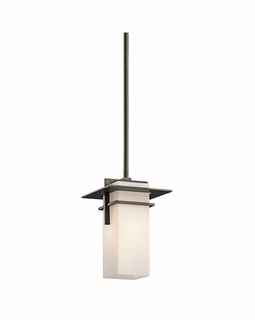49640OZ Kichler Contemporary Caterham Indoor/Outdoor Pendant 1Lt (olde bronze)