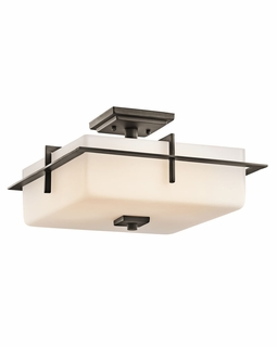 49641OZ Kichler Contemporary Caterham Outdoor Ceiling 3Lt - Olde Bronze