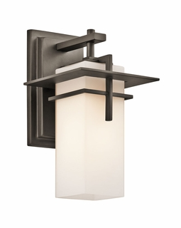 49642OZFL Kichler Contemporary Caterham Indoor/Outdoor Wall 1Lt FL - Olde Bronze