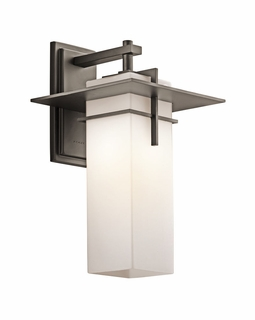 49644OZFL Kichler Contemporary Caterham Outdoor Wall 1Lt Fluorescent (olde bronze)