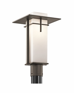 49646OZ Kichler Contemporary Caterham Outdoor Post Mount 1Lt (olde bronze)
