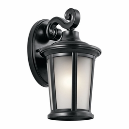 49654BK Kichler Fixtures Traditional Black Outdoor Wall 1Lt