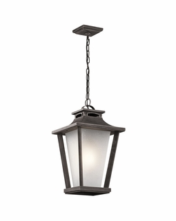 49663WZC Kichler Arts and Crafts/Mission Sumner Court Outdoor Pendant 1Lt (weathered zinc)