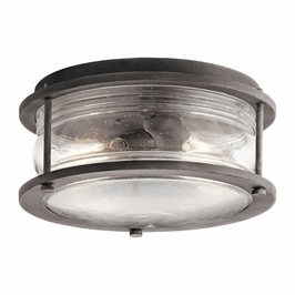 49669WZC Kichler Fixtures Lodge/Country/Rustic Weathered Zinc Outdoor Ceiling 2Lt