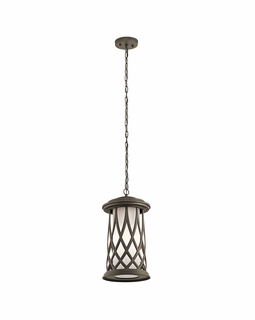 49685OZ Kichler Transitional Pebble Lane Outdoor Pendant 1Lt (olde bronze)