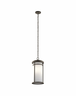 49689OZ Kichler Transitional Toman Outdoor Pendant 1Lt - Olde Bronze