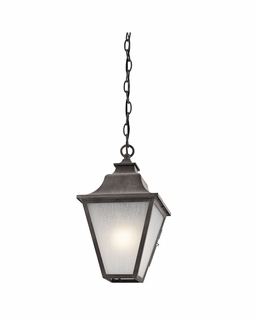 49704WZC Kichler Traditional Northview Outdoor Pendant 1Lt (weathered zinc)