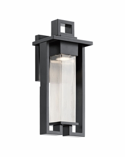 49706BK Kichler Contemporary Chlebo Outdoor Wall 1Lt Halogen (black)