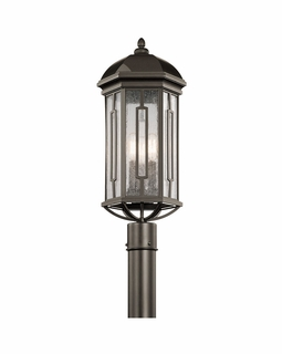 49712OZ Kichler Traditional Galemore Outdoor Post Mount 3Lt (olde bronze)