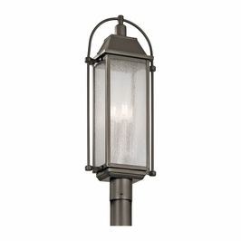 49717OZ Kichler Traditional Harbor Row Outdoor Post Mt 4Lt - Olde Bronze