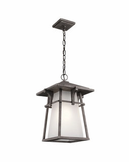 49725WZC Kichler Arts and Crafts/Mission Beckett Outdoor Pendant 1Lt (weathered zinc)