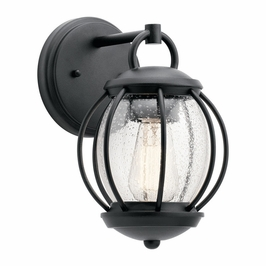 49726BKT Kichler Fixtures Coastal Textured Black Outdoor Wall 1Lt