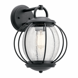 49728BKT Kichler Fixtures Coastal Textured Black Outdoor Wall 1Lt