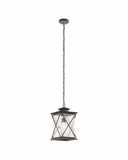 49747WZC Kichler Fixtures Lodge/Country/Rustic Weathered Zinc Outdoor Pendant 1Lt