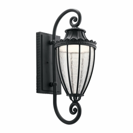 49753BKTLED Kichler Fixtures Traditional Textured Black Outdoor Wall 1Lt LED