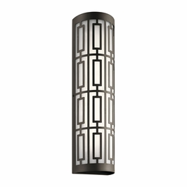 49780OZLED Kichler Fixtures Mid-Century/Retro Olde Bronze Outdoor Wall LED