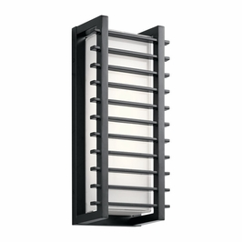 49785BKLED Kichler Fixtures Contemporary Black Outdoor Wall LED