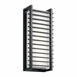 49786BKLED Kichler Fixtures Contemporary Black Outdoor Wall LED