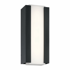 49798BKTLED Kichler Fixtures Contemporary Textured Black Outdoor Wall LED
