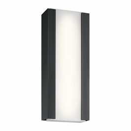 49800BKTLED Kichler Fixtures Contemporary Textured Black Outdoor Wall LED