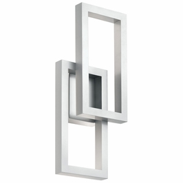 49802PLLED Kichler Fixtures Contemporary Platinum Outdoor Wall LED