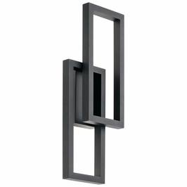 49803BKTLED Kichler Fixtures Contemporary Textured Black Outdoor Wall LED