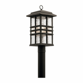 49832OZ Kichler Arts and Crafts/Mission Beacon Square Outdoor Post Mt 1Lt - Olde Bronze