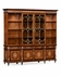 499119-BRW Jonathan Charles Duchess Burl & Mother Of Pearl Large Glazed Bookcase