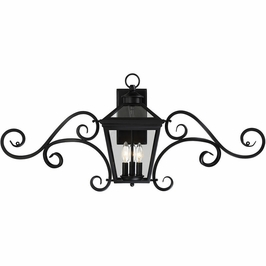 "5-143-BK Savoy House Transitional Ellijay 9"" Steel Wall Lantern w/Mustache in Black"