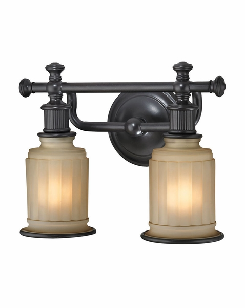 bathroom vanity lights oil rubbed bronze 52011 2 elk acadia 2 light vanity in rubbed bronze 24999