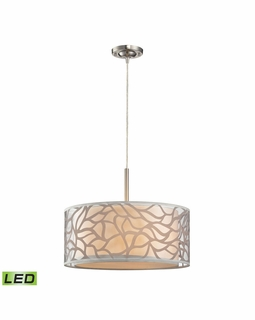 53001/3-LED Elk Modern Autumn Breeze 3 Light LED Pendant In Brushed Nickel