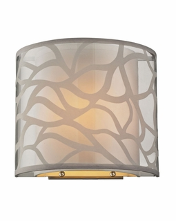 53002/1 Elk Modern Autumn Breeze 1 Light Wall Sconce In Brushed Nickel