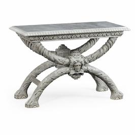 530097-WWO Jonathan Charles Traditional William Yeoward Collected - Country House Chic Saragosa White Oak Table