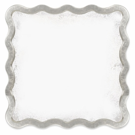 530190-PAS Jonathan Charles Keste Square Mirror In Antique Silver