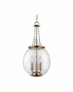 5311 Hudson Valley Pierce 10.5 inch (3) Light Pendant in Aged Brass or Polished Nickel