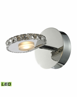 54000/1 Elk Spiva 1 Light Vanity In Polished Chrome And Crystal Banding
