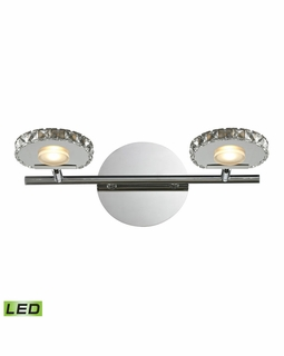 54001/2 Elk Spiva 2 Light Vanity In Polished Chrome And Crystal Banding