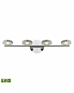 54003/4 Elk Spiva 4 Light Vanity In Polished Chrome With Crystal Banding