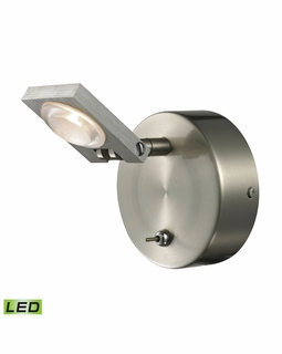 54010/1 Elk Modern Reilly 1 Light Vanity In Brushed Nickel And Brushed Aluminum