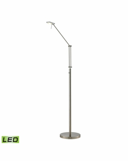 54014/1 Elk Modern Reilly 1 Light Floor Lamp In Brushed Nickel And Brushed Aluminum